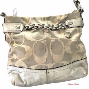 Coach Signature Chain Convertible Crossbody Bag